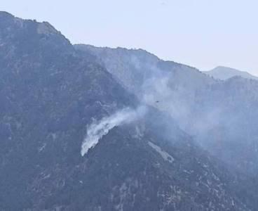 Adana'dan kalkkan yangın söndürme uçağı düştü