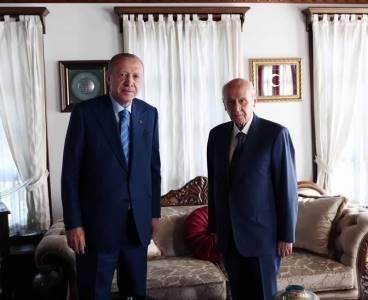Cumhurbaşkanı Erdoğan'dan Devlet Bahçeli'ye ziyaret