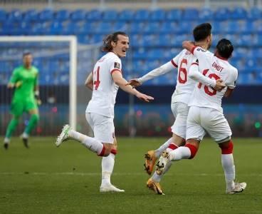 Türkiye Norveç maçından kareler