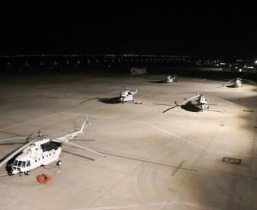 Ukrayna'dan gelen 5 helikopter, yangına müdahale için hazır